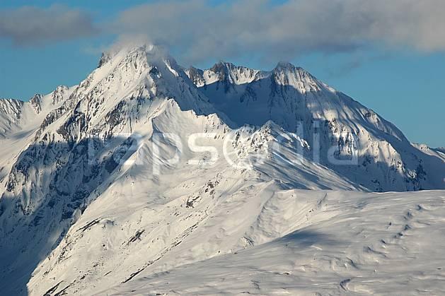 aa043049LE : Depuis La Plagne, Savoie, Alpes.  Europe, CEE, C02, C01, arête moyenne montagne, paysage (France).