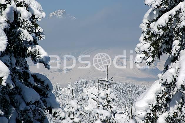 aa050903LE : Depuis Saint Nicolas de Véroce, Haute-Savoie, Alpes.  Europe, CEE, sapin, enneigé, brouillard, C02, C01 arbre, forêt, moyenne montagne, paysage, Annecy 2018 (France).