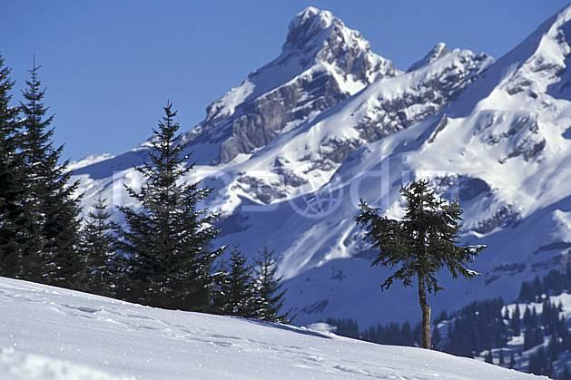 aa0541-06LE : Pointe Percée, Aravis, Haute-Savoie, Alpes.  Europe, CEE, ciel bleu, sapin, C02, C01 arbre, moyenne montagne, paysage, Annecy 2018 (France).