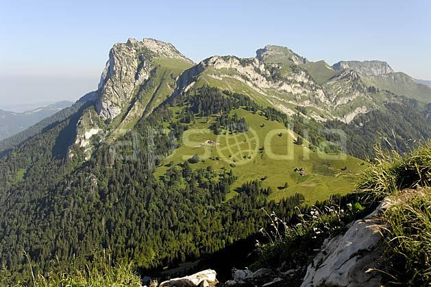 aa062498LE : Lanfonnets et col des Nantets depuis la Tournette, Haute-Savoie, Alpes.  Europe, CEE, C02, C01, alpage forêt, moyenne montagne, paysage, Annecy 2018 (France).