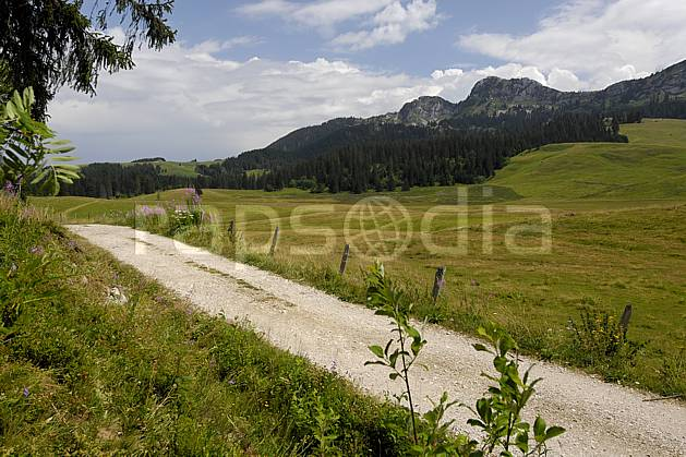 aa062986LE : Plateau des Glières, Notre Dame des Neiges, Haute-Savoie, Alpes.  Europe, CEE, sentier, route, sentier, alpage, champ, C02, C01 moyenne montagne, paysage, Annecy 2018 (France).