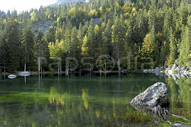 aa063411GE plateau d'assy, lac vert, haute-savoie, Europe, EEC, pond, forest, lake, middle mountain, landscape, Annecy 2018 (France ).