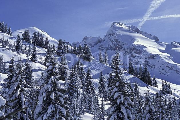 aa0719-32LE : Mont Charvet, Aravis, Haute-Savoie, Alpes.  Europe, CEE, poudreuse, sapin, C02, C01 arbre, moyenne montagne, paysage, Annecy 2018 (France).
