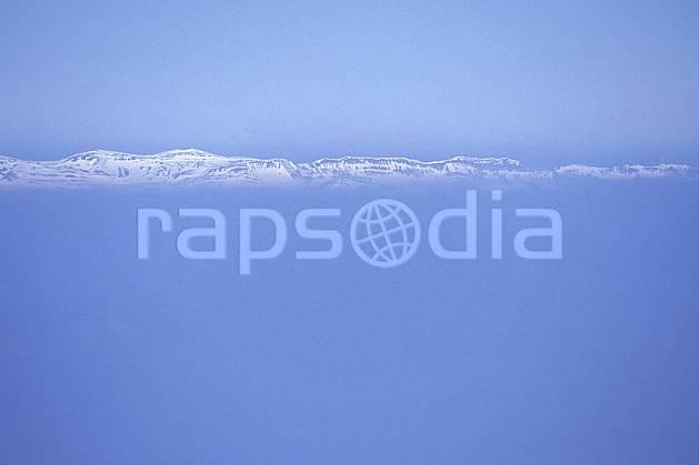 aa0918-25LE : Jura vu depuis les Alpes, Alpes.  Europe, CEE, brouillard, ciel bleu, évasion, espace, pureté, C02, C01 moyenne montagne, paysage, textures et fonds (France).