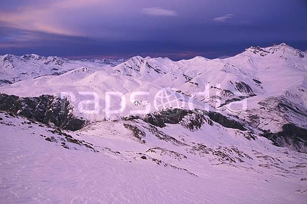 aa1257-18LE : La Grave, Oisans, Alpes.  Europe, CEE, coucher de soleil, chaine de montagnes, panorama, C02, C01 moyenne montagne, paysage (France).