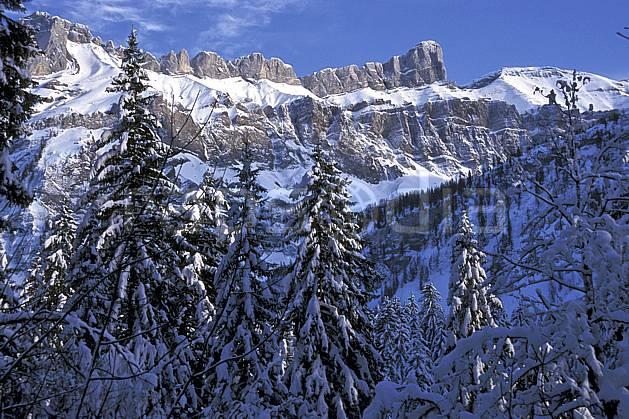 aa2137-16LE : Les Diablerets, Alpes Vaudoises, Alpes.  Europe, CEE, ciel bleu, sapin, C02, C01 arbre, forêt, moyenne montagne, paysage (France).