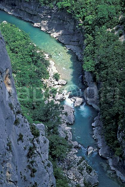 aa2439-01LE : Le Verdon, Var, Alpes.  Europe, CEE, falaise, canyon, C02, C01 moyenne montagne, paysage, rivière (France).