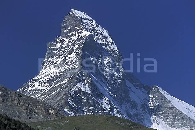 aa2533-23LE : Le Cervin, Alpes.  Europe, ciel bleu, falaise, C02, C01 moyenne montagne, paysage (Suisse).