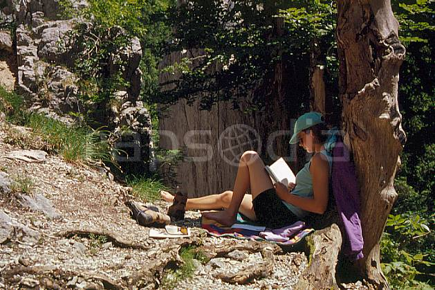 ab0595-18GE jura, Europe, EEC, rest, woman, middle mountain, people (France).