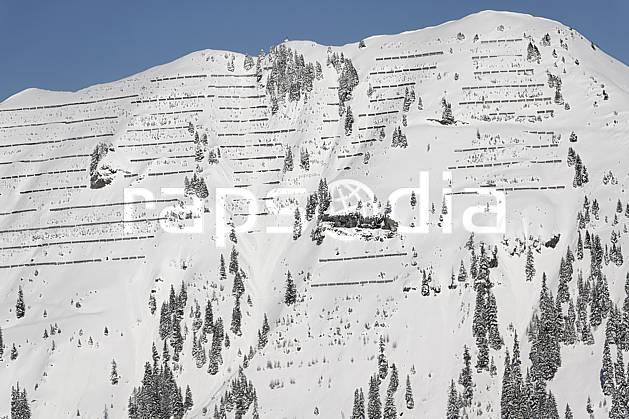 ae060928LE : Paravalanches, Flaine, Haute-Savoie, Alpes.  Europe, CEE, paravalanche, sécurité, avalanche, C02, C01 arbre, environnement, moyenne montagne, paysage, Annecy 2018 (France).