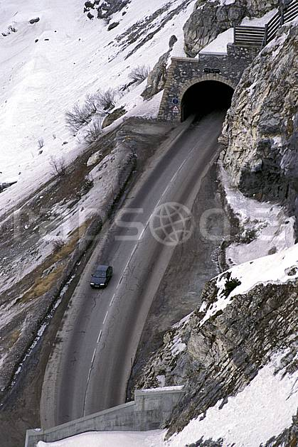 af0883-23LE : Tunnel, Savoie, Alpes.  Europe, CEE, route, tunnel, voiture, C02, C01 moyenne montagne, transport (France).