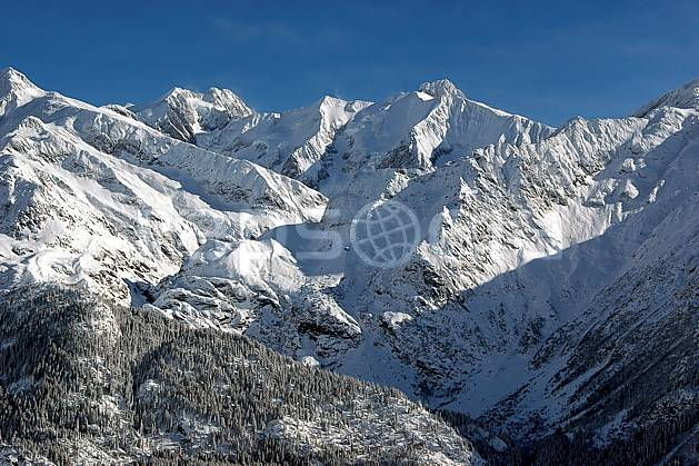 ba050002LE : Tré la Tête et aiguille des Glaciers, Massif du Mont Blanc, Haute-Savoie, Alpes.  Europe, CEE, panorama, chaine de montagnes, C02, C01 forêt, haute montagne, moyenne montagne, Annecy 2018 (France).