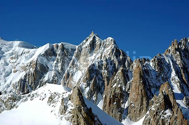 ba050861LE : Mont Maudit, Pointe de l'Androsace, Grand Capucin, Massif du Mont Blanc, Alpes.  Europe, CEE, panorama, chaine de montagnes, falaise, mur, pic, C02, C01 haute montagne (Italie).