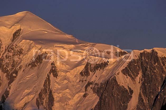 ba0624-20LE : Massif du Mont Blanc, Haute-Savoie, Alpes.  Europe, CEE, ciel bleu, coucher de soleil, glacier, C02, C01 haute montagne, paysage, Annecy 2018 (France).