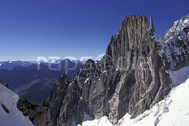 ba0857-11LE : Aiguilles de la Brenva , Massif du Mont Blanc, Alpes.  Europe, CEE, ciel bleu, falaise, pic, C02, C01 haute montagne, paysage (Italie).