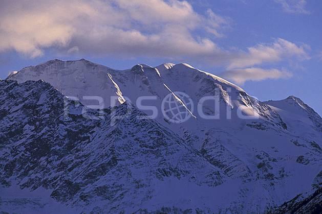ba0879-23LE : Dômes de Miage, Massif du Mont Blanc, Alpes.  Europe, CEE, ciel nuageux, coucher de soleil, C02, C01 haute montagne, paysage (France).