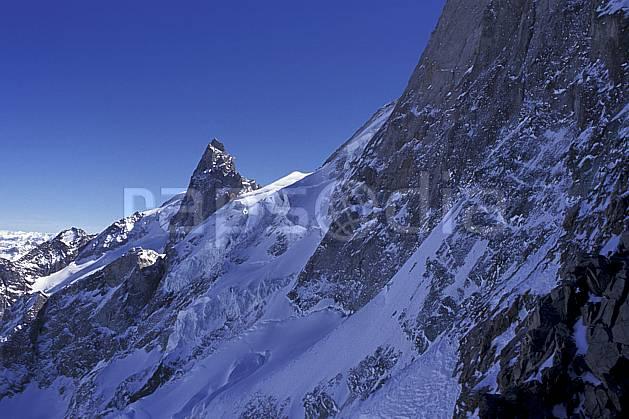 ba0919-15LE : La Meije, le Rateau, Oisans, Alpes.  Europe, CEE, ciel bleu, glacier, falaise, C02, C01 haute montagne, paysage (France).