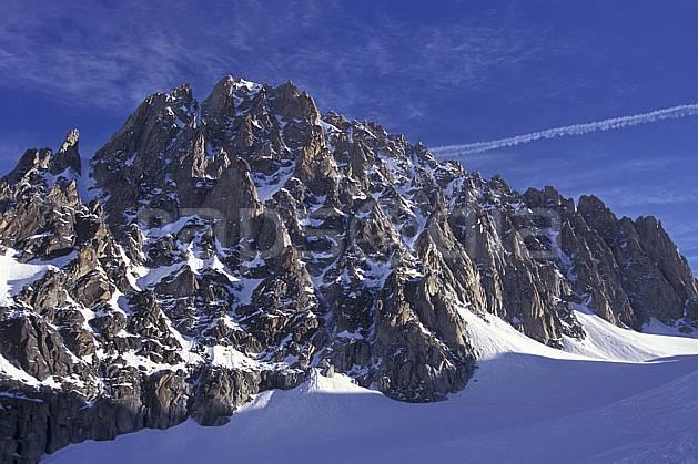 ba0954-23LE : Aiguille du Chardonnet, Massif du Mont Blanc, Haute-Savoie, Alpes.  Europe, CEE, ciel bleu, falaise, C02, C01 haute montagne, paysage, Annecy 2018 (France).