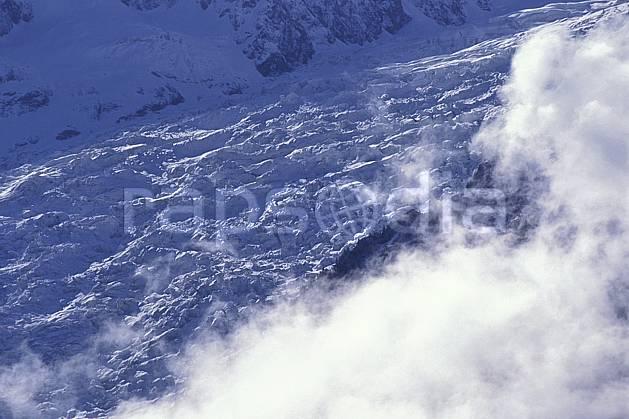 ba0963-04LE : Glacier des Bossons, Massif du Mont Blanc, Haute-Savoie, Alpes.  Europe, CEE, glacier, crevasse, sérac, C02, C01 haute montagne, paysage, Annecy 2018 (France).