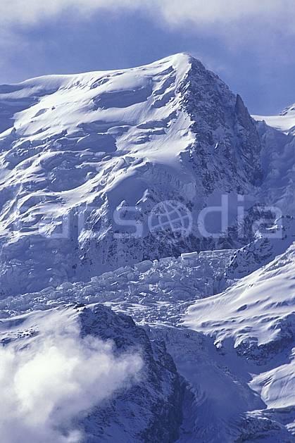 ba0963-05LE : Massif du Mont Blanc, Haute-Savoie, Alpes.  Europe, CEE, glacier, crevasse, sérac, C02, C01 haute montagne, paysage, Annecy 2018 (France).