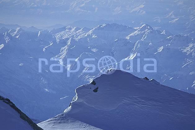 ba1111-25LE : Mont Rose, Alpes.  Europe, arête, C02, C01 haute montagne, paysage (Suisse).
