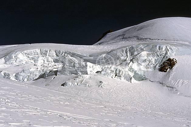ba1112-27LE : Mont Rose, Alpes.  Europe, ciel bleu, glacier, crevasse, sérac, C02, C01 haute montagne, paysage (Suisse).