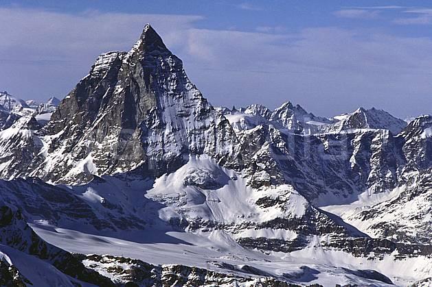 ba1113-14LE : Le Cervin, Alpes.  Europe, ciel voilé, falaise, C02, C01 haute montagne, paysage (Suisse).
