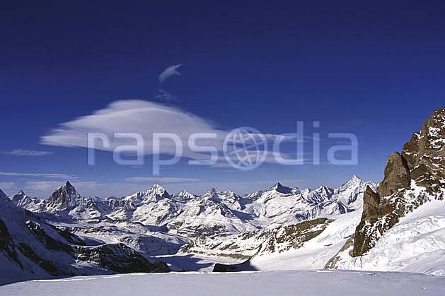 ba1113-22LE : Alpes Suisse, Au fond le Cervin, Alpes.  Europe, panorama, C02, C01 haute montagne, paysage (Suisse).