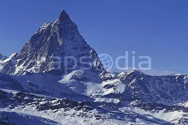 ba1114-10LE : Le Cervin, Alpes.  Europe, ciel bleu, falaise, C02, C01 haute montagne, paysage (Suisse).