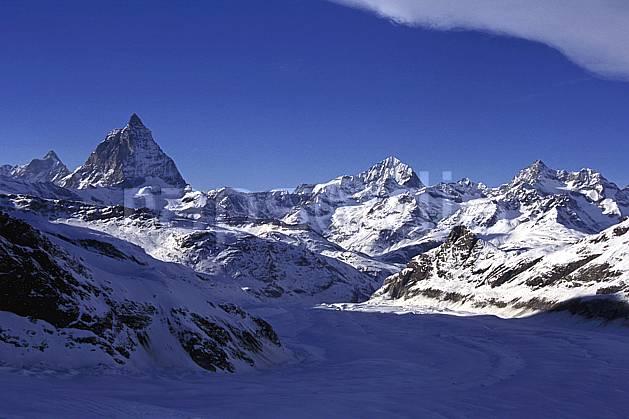 ba1114-26LE : Le Cervin, Alpes.  Europe, ciel bleu, C02, C01 haute montagne, paysage (Suisse).