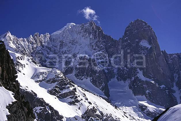 ba1143-16LE : Petite Verte, Aiguille Verte, Pic sans nom, Drus, Massif du Mont Blanc, Haute-Savoie, Alpes.  Europe, CEE, ciel bleu, falaise, C02, C01 haute montagne, paysage, Annecy 2018 (France).