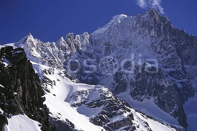 ba1143-17LE : Petite Verte, Aiguille Verte -Pic sans nom, Massif du Mont Blanc, Haute-Savoie, Alpes.  Europe, CEE, ciel bleu, falaise, C02, C01 haute montagne, paysage, Annecy 2018 (France).