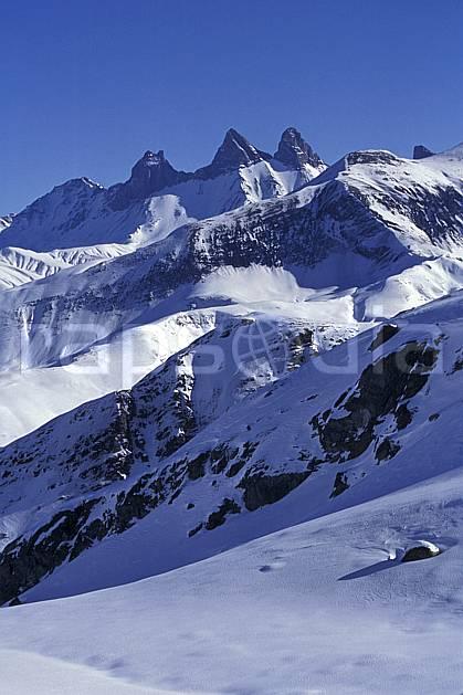 ba1974-25LE : Aiguilles d'Arve, Massif des Grandes Rousses, Savoie, Alpes.  Europe, CEE, ciel bleu, C02, C01 haute montagne, paysage (France).