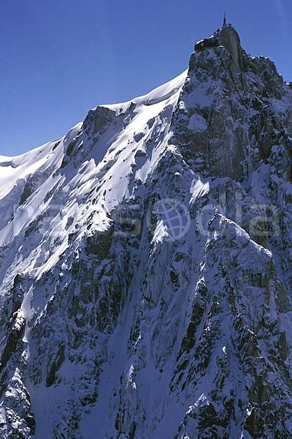 ba2031-25LE : Aiguille du Midi, Massif du Mont Blanc, Haute-Savoie, Alpes.  Europe, CEE, ciel bleu, falaise, pic, C02, C01 haute montagne, paysage, Annecy 2018 (France).