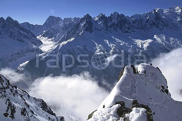 ba2420-03LE : Depuis La Flégère, Massif du Mont Blanc, Chamonix, Haute-Savoie, Alpes.  Europe, CEE, ciel bleu, brouillard, panorama, C02, C01 haute montagne, paysage, Annecy 2018 (France).