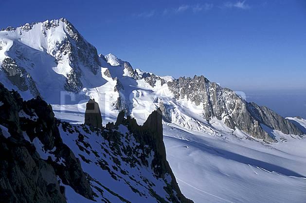 ba2515-34LE : Aiguille du Chardonnet depuis le glacier du Tour, Massif du Mont Blanc, Haute-Savoie, Alpes.  Europe, CEE, ciel bleu, C02, C01 haute montagne, paysage, Annecy 2018 (France).