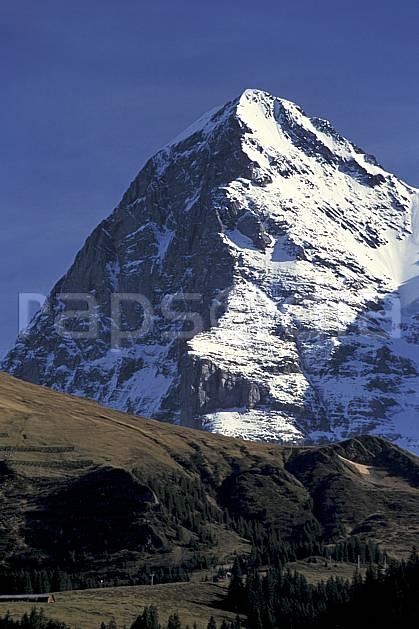 ba2899-17LE : L'Eiger, Alpes.  Europe, ciel bleu, falaise, C02, C01 haute montagne, paysage (Suisse).