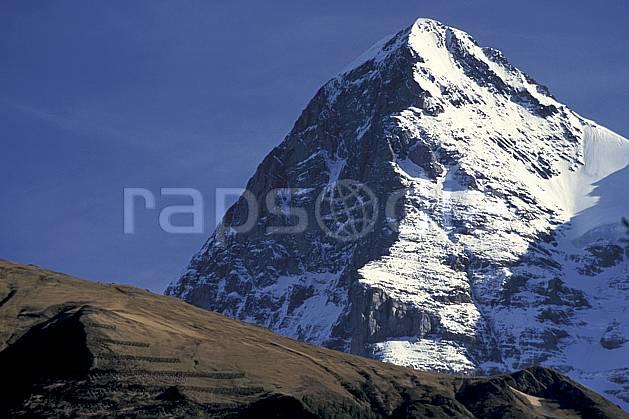 ba2899-20LE : L'Eiger, Alpes.  Europe, ciel bleu, falaise, C02, C01 haute montagne, paysage (Suisse).