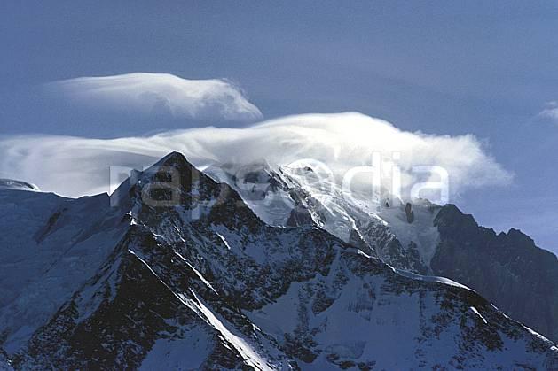 ba3122-01LE : Massif du Mont Blanc, Haute-Savoie, Alpes.  Europe, CEE, arête, sommet, C02, C01 haute montagne, nuage, paysage, Annecy 2018 (France).