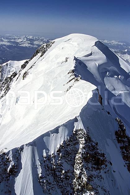 ba3133-11LE : Sommet du Mont Blanc, Haute-Savoie, Alpes.  Europe, CEE, sommet, arête, vue aérienne, C02, C01 haute montagne, paysage, Annecy 2018 (France).