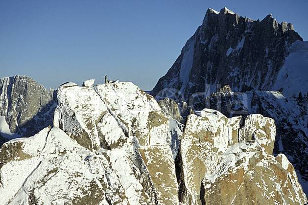 ba3208-35LE : Vierge du Grépon,  Grandes Jorasses, Massif du Mont Blanc, Haute-Savoie, Alpes.  Europe, CEE, falaise, C02, C01 haute montagne, paysage, Annecy 2018 (France).