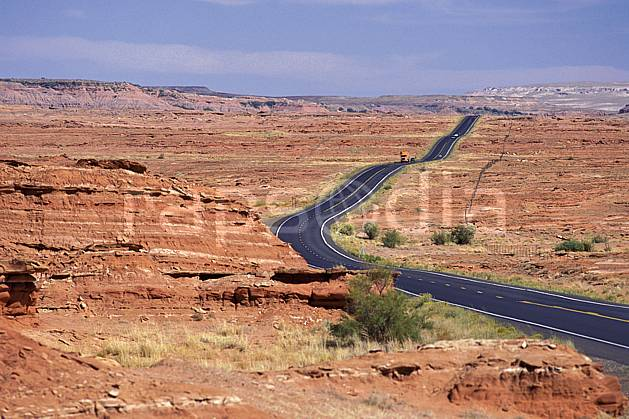 ea0651-11LE : Painted desert, Arizona.  North America, blue sky, National Park, road desert, environment, landscape, adventure trip (Usa).
