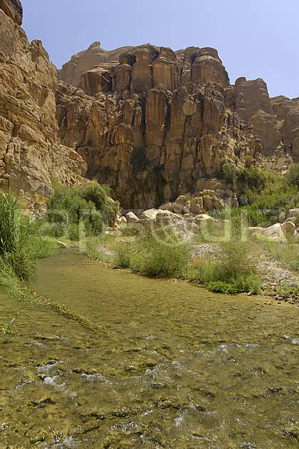 ea070565LE : Canyon de Mujib.  Moyen Orient, falaise, C02 paysage, rivière, voyage aventure (Jordanie).