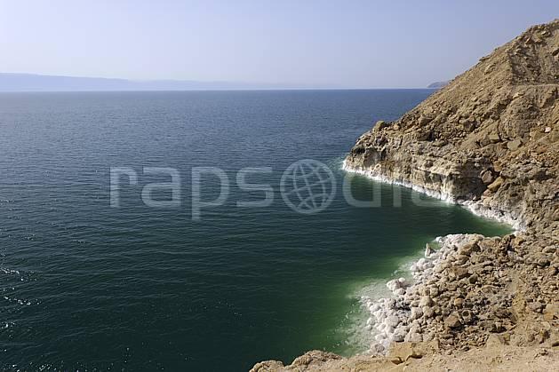 ea070714LE : Mer Morte.  Moyen Orient, sel, C02 désert, mer, paysage, voyage aventure (Jordanie).
