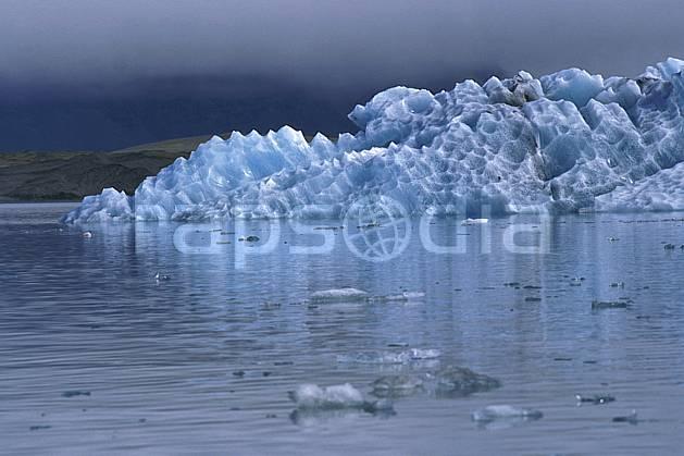 ea1033-01LE : Lac de Jökulsàrlon.  ONU, OTAN, iceberg, C02, C01 paysage, voyage aventure, mer (Islande).