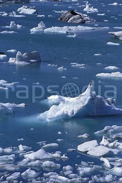 ea1034-07LE : Lac de Jökulsàrlon.  ONU, OTAN, iceberg, C02, C01 paysage, voyage aventure, mer (Islande).