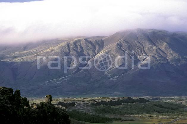 ea1040-11LE : Thingvellir.  ONU, OTAN, ciel nuageux, herbe, C02, C01 paysage, voyage aventure (Islande).