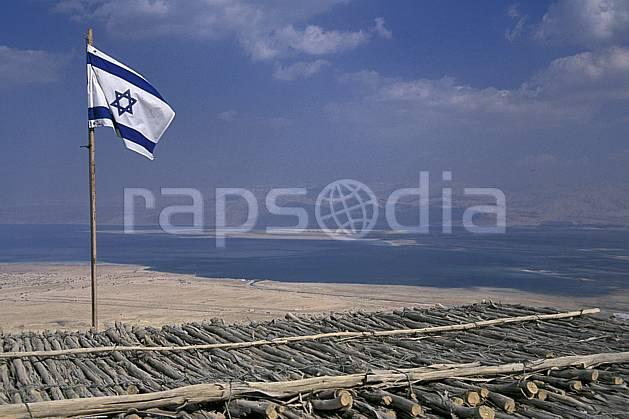 ea1134-19LE : Forteresse de Massada.  Proche Orient, ciel nuageux, drapeau, C02, C01 désert, paysage, voyage aventure (Israël).