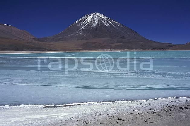 ea1225-23LE : Sud Lipez, Laguna Verde.  Amérique du sud, Amérique Latine, Amérique, ciel bleu, laguna, lagune, C02, C01 lac, paysage, voyage aventure (Bolivie).