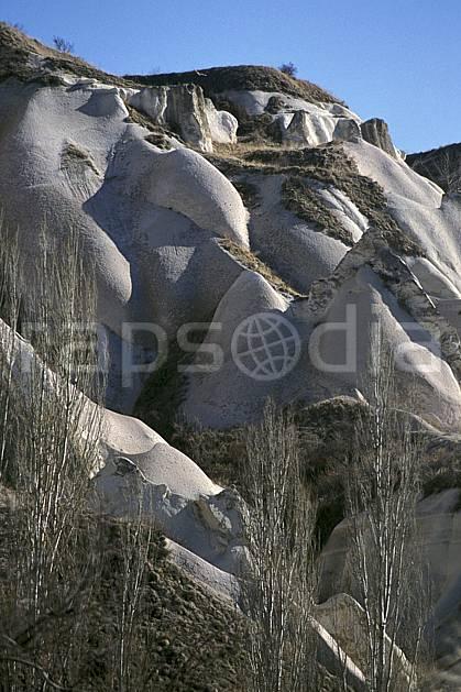 ea2651-09LE : Anatolie Centrale, Cappadoce.  Europe, ciel bleu, érosion, C02, C01 arbre, paysage, voyage aventure (Turquie).